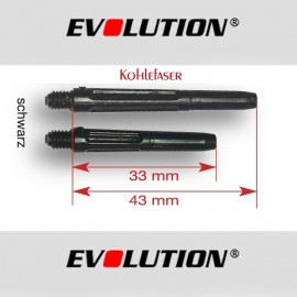 EVOLUTION Shaft Kohlefaser 3er Set