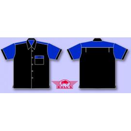 Bull's Dartshirt Classic blau schwarz