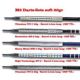 M3 Darts-Sets 20gr soft